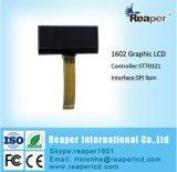 Zahn LCD-Bildschirmanzeige-Negativ LCD-Baugruppe 1602 für industrielles, medizinisch. Gerät