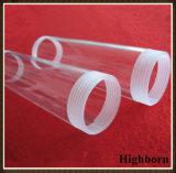 Tubulação desobstruída da câmara de ar de vidro de quartzo fundido da linha de parafuso