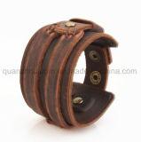 Bracelet en cuir d'hommes classiques chauds de vente d'OEM
