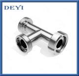 Тройник резьбы нержавеющей стали санитарный с соединением (DY-T023)