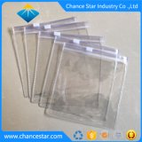 PVC transparent à fermeture à glissière de l'emballage personnalisé des sacs en plastique pour les textiles