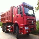 Autocarro con cassone ribaltabile rosso utilizzato della strumentazione 6*4 HOWO del macchinario di Constructtion