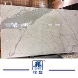 Calacattaの磨かれた白い大理石の石カウンタートップのためのまたは設計されるまたはVanitytopかホテルデザイン平板の壁のクラッディングの建物