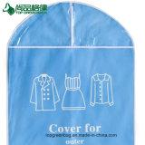 도매 PVC 비 길쌈된 부대에 의하여 지퍼로 잠기는 명확한 여행용 양복 커버