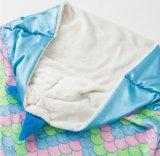 二重フランネルの人魚の子供の寝袋