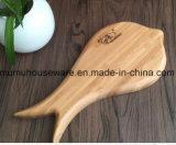 Plaque de bambou en forme de poisson