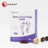 Dos en un pie Parches de desintoxicación con adhesivo de cuidado de los pies de electrodos de bambú
