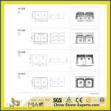 Aço inoxidável/em mármore/Onyx/Granito/Quartz/Artificial/acrílico/cerâmica/Arte/Lavatório de pedra lavatório para banheiro/cozinha/bancada (único/duplo/escovado/polido)