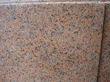 El chino gris/rojo/rosa y gris oscuro/ losas de granito mosaicos y/o escaleras de granito para pared/Piso/baño/Bush Hamered flameado piedras