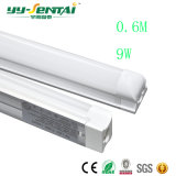 Calidad integrada caliente 9W del proyecto del tubo de la lámpara del corchete del vendedor 600mmt8. Tubo fluorescente del LED