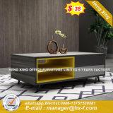 Tabella di tè domestica moderna di vetro della mobilia dei piedini del metallo (HX-8ND9203)