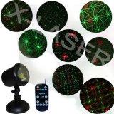 O movimento ao ar livre da estrela IP65 projetor do laser vermelha/verde oito da flor rega luzes de Natal