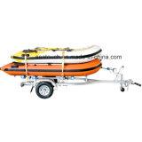 Barco de pesca inflables de plástico con pala, paseos en barco, barco fabricante de China