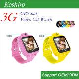 3Gは子供の機密保護のためのGPSの追跡者のスマートな腕時計をからかう