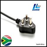 Südafrika-Standardnetzanschlußkabel-Stecker mit Bescheinigung 6A