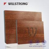 Panneau composé en aluminium de fini en bois de Willstrong pour la publicité de système