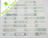 Nieuwste Ontwerp Ming Groen met de Witte Marmeren Regelmatige Tegel van het Mozaïek van de Strook Thassos