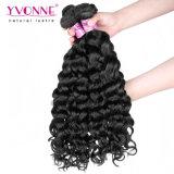 Estensione peruviana naturale dei capelli del Virgin del tessuto dei capelli umani del commercio all'ingrosso 100% di Yvonne