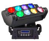 Éclairage principal mobile d'étape de la vente 8PCS*10W RGBW 4in1 DEL de faisceau chaud d'araignée