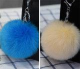 Anello portachiavi falso della pelliccia/anello chiave pelliccia della pelliccia POM/Faux