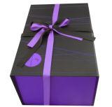 Rectángulo de regalo de papel de lujo barato para el empaquetado del regalo de la Navidad