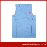 Maglietta 100% del cotone della signora bianca stampata abitudine (R22)