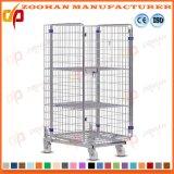 Contenitore d'acciaio galvanizzato del rullo della gabbia di memoria del magazzino del metallo accatastabile (Zhra38)
