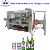 3-en-1 de la cerveza de botella de vidrio Máquina de Llenado