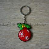 Gomma all'ingrosso 3D Keychain del PVC della Santa per l'ornamento di natale