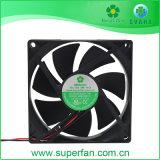 Ventilador de plástico de venda quente, ventilador, ventilador de refrigeração DC 92*92*25mm