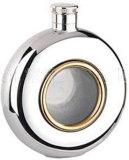 Forma redonda de acero inoxidable frasco de la cadera (r-hf005)