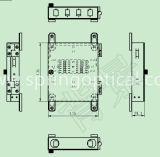 Metal FTTH Sc Upc Caja de terminales de fibra de 4 núcleos