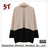 Chandail tricoté parCollet fait sur commande de l'hiver de femmes de mode avec la couleur deux