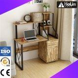 Mesa de madeira do computador com a gaveta para a estação de trabalho do escritório Home
