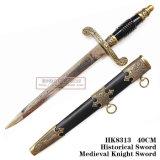 Punhal histórico ocidental 40cm HK8313 do punhal europeu europeu de imitação manual do punhal do cavaleiro