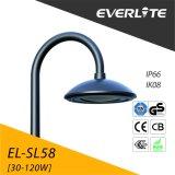 Everlite Jardín de luz LED de alta calidad Post Luz Superior la fundición de aluminio de 30W 40W 50W