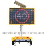 2018Hot Sale Portable solaire hydraulique de remorque Panneaux à messages de montage