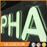PMMA에 있는 분명히된 표시 편지