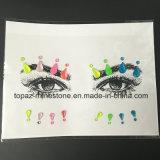 Причудливый изготовленный на заказ стикер Tattoo грани кристалла Rhinestone Iridescence (S025)