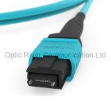 32f dfo-mpo Om3 Patchcord mâle câble de pontage du connecteur à fibre optique
