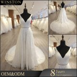 2018 Fashion de haute qualité encolure en V robe de mariée
