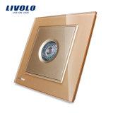 Interruttore di lusso del sensore dello zoccolo dell'indicatore luminoso del suono della parete di Livolo (VL-W291SG-12)