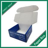 Сложенная коробка вытачки верхняя лоснистая изготовленный на заказ бумажная