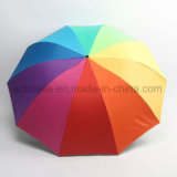다채로운 선전용 선물 접히는 무지개 우산