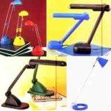 Bureau et lampes de table