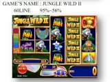 A selva 60 Line&#160 selvagens; Máquina de jogo a fichas da máquina de jogo da máquina de jogo do entalhe