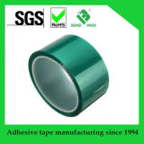 優れた品質のシリコーン付着力の緑ポリエステルテープ
