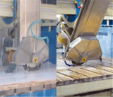 De automatische Scherpe Apparatuur van de Steen om Graniet/Marmeren Tegels/Countertops Te zagen