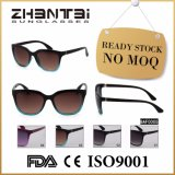 Óculos de sol conservados em estoque prontos da alta qualidade fêmea básica com frame do Cp (BAF0005)