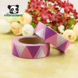 Cinta impresa aduana adhesiva de enmascarado aguada Rolls del color de Manzawa del diseño geométrico púrpura rosado de los triángulos